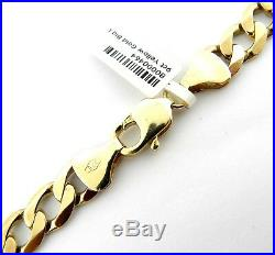 9ct Gold Heavy Link chain, 24 inches long