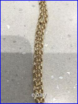 9ct Gold Heavy Solid Belcher Chain Necklace. 24 long. Fully Hallmarked. Superb