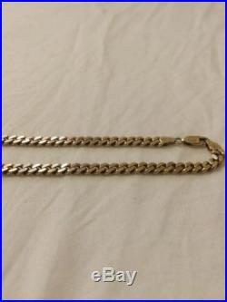 9ct Gold Heavy Yellow Curb Chain Necklace