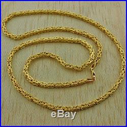9ct Gold Italian Square Byzantine Chain -28-3.5mm-19g Hallmark RRP £900 I5 28
