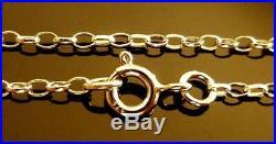 9ct Gold Ladies Belcher Chains 16 26 U. K. Made, Fully Hallmarked