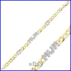9ct Gold Ladies Solid Identity Mum Hearts Curb Name Chain ID Bracelet Gift Box