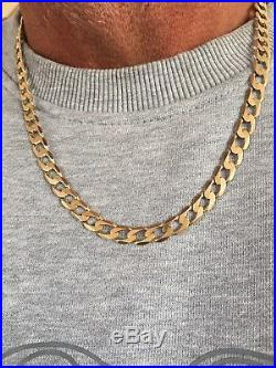 9ct Gold Lightweight Flat Curb Chain Necklace 29Grams 20