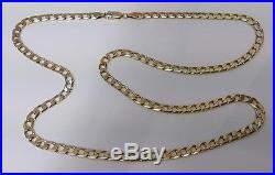 9ct Gold Long Length 26'' LARGE HEAVY Curb Link Neck Chain Necklace Buy It Now