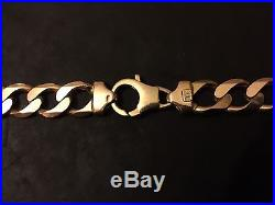 9ct Gold Men's Curb Chain 24 Large And Heavy