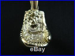 9ct Gold Mens, Boxing Glove Pendant 40mm, 24.1g / No Belcher, Curb Chain