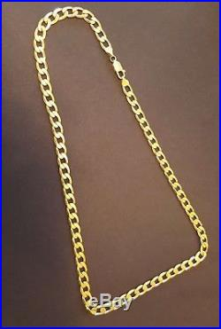 9ct Gold Mens Chain. Curb Link Style. 39.5g. Ideal Christmas / Birthday Gift