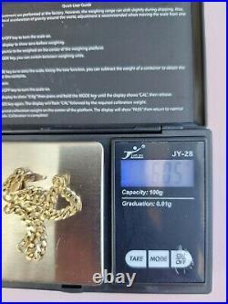 9ct Gold Mens Flat Vintage Curb Bracelet