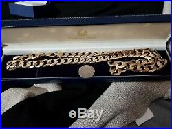 9ct Gold Mens very Heavy Curb Chain necklace 104g