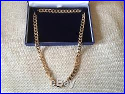 9ct Gold Necklace 20 inches 63.05gms