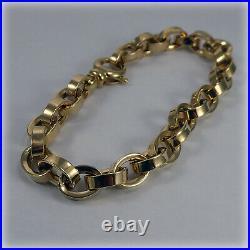 9ct Gold Oval Link 7.5 Bracelet