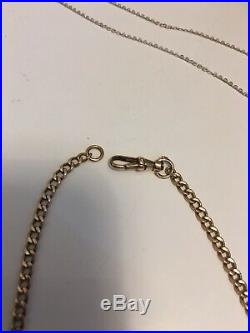 9ct Gold Pocketwatch Chain Style Necklace/chain T Bar & Lobster Clasp 18 5.15g