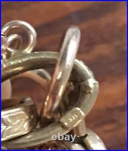 9ct Gold Prince Of Wales Charm Bracelet 18g Heart Victorian Vintage Not Scrap