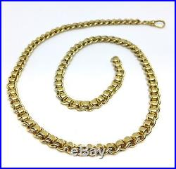 9ct Gold Rollerball Chain 22.5 Inches
