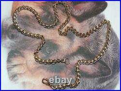 9ct Gold Rollerball Chain Heavy 52g and 22 long