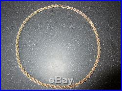 9ct Gold Rope Link Chain Necklace heavy 46.2 grams