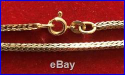 9ct Gold Snake Necklace /Chain 24
