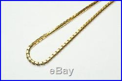 9ct Gold Solid 24 Box Chain