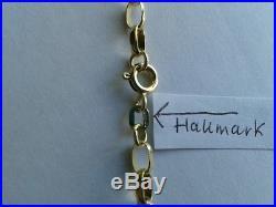 9ct Gold Solid Belcher Chain Bevelled Edge Links. 20 inch. 8g. Hallmarked