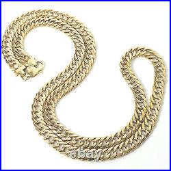 9ct Gold Solid Chain Men's HEAVY DOUBLE CURB Yellow Hallmarked 65.6g 26 Inches