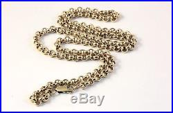 9ct Gold Solid Circle Link Chain 21,6 Inch 4,2mm Lovely & Heavy 31 grams