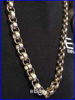 9ct Gold Solid Large Link Belcher Chain 117.8G 30.5