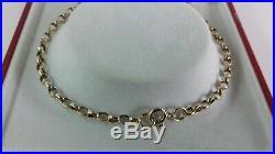 9ct Gold Solid Link Belcher Chain. 20 inch. Hallmarked. 8 grammes