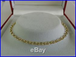 9ct Gold Solid Link Diamond Cut Belcher Chain. 22 inch. Hallmarked. 5.9 grammes
