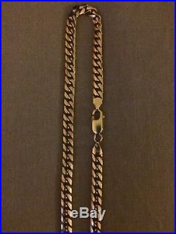 9ct Gold Solid Very Heavy Curb Chain Necklace Not Scrap