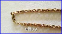 9ct Gold Spiga Chain (18 inches) and Matching Bracelet