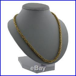 9ct Gold Square Byzantine Chain-26.25-4mm-24.9g Hallmark RRP £1010 CL11