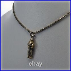 9ct Gold Tassel Pendant on 18 Snake Chain