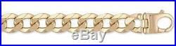9ct Gold Traditional Heavyweight Curb Chain Bracelet 9 inch