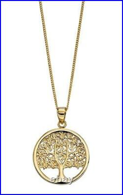 9ct Gold Tree of Life Pendant Design 2 (Chain Sold Separately)