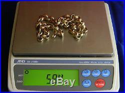9ct Gold UK Hallmarked Heavy 58.4g / Nearly 2oz Belcher Chain, Mens, 21 Long
