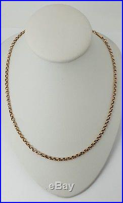 9ct Gold Victorian Belcher Link Muff / Guard Chain 18 Necklace. Superb. NICE1