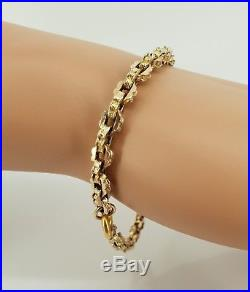 9ct Gold Victorian Bracelet Super Condition made from Muff / Guard Chain. NICE1