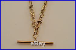 9ct Gold Vintage Fob Chain Necklace -25.4g