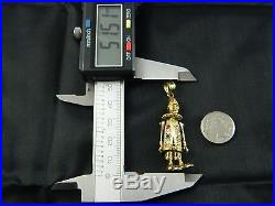 9ct Gold Women Doll / Clown 2 Stone Set 51mm Pendant Heavy 7.6g / Without Chain
