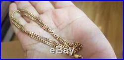 9ct Gold Women / Mens Curb Chain 18