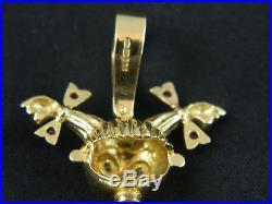 9ct Gold Womens Rag Doll / Set 73mm Pendant Heavy 27.3g / No Belcher Chain