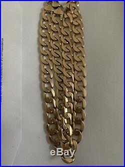 9ct Gold flat Curb Heavy Chain