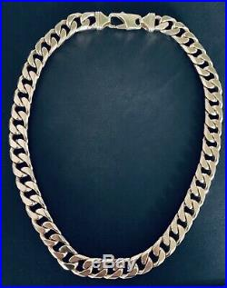 9ct Gold very Broad/chunky/Heavy Weight 213.5g- 6.8 oz 20 Curb Chain Vm255