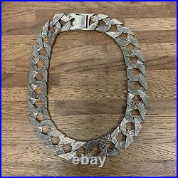 9ct Huge Heavy Chunky Yellow Gold Flat Curb Chain 353g Hallmarked XRF Checked