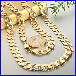 9ct SOLID ROSE GOLD MENS WIDE LINK CURB CHAIN 24 3/4 LONG NECKLACE 41.4g