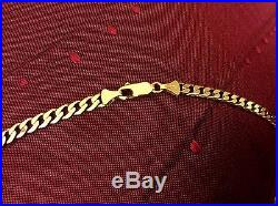 9ct Solid GOLD (15.7 GRAM) FULLY HALLMARKED (20 INCH) CURB CHAIN