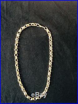 9ct Solid Gold Belcher Neck Chain Very Heavy 139.8 Grams British Hallmarks 24.5