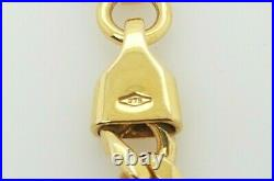 9ct Solid Gold Chain with Flat Curb Links 51cm 31g Preloved