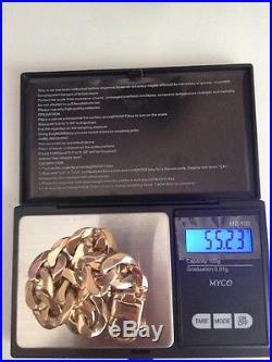9ct Solid Gold Curb Bracelet