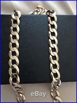 9ct Solid Gold Curb Chain 4 Ounces